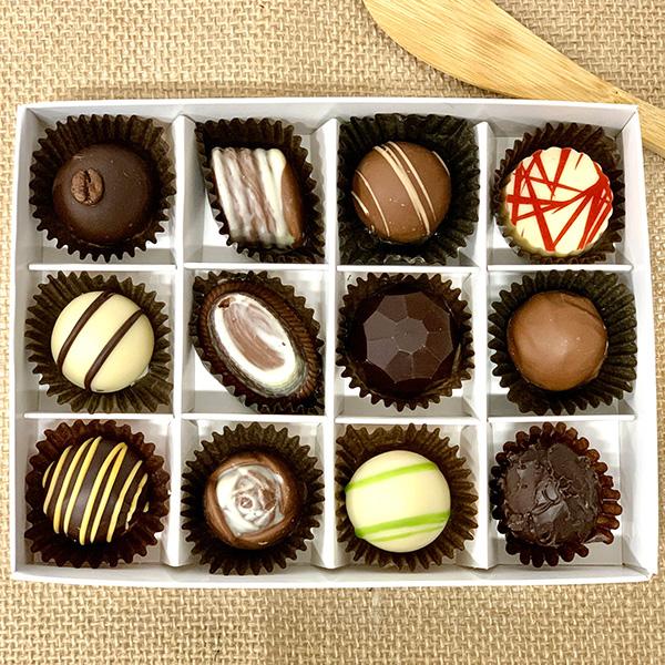 Box of 12 Chocolate Truffles